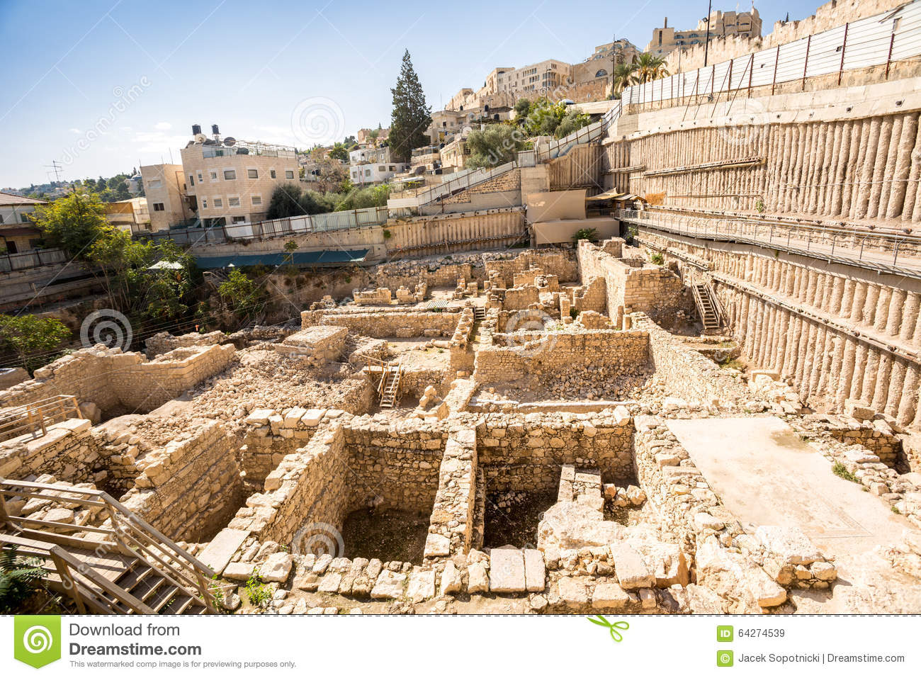 Archeological site in Jerusalem, Israel