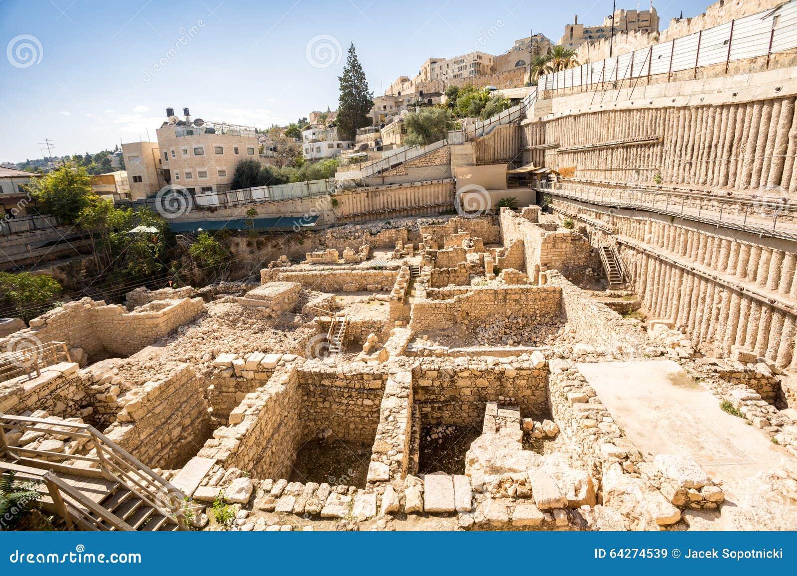 Download Archeological Site In Jerusalem, Israel Stock Image - Image of ruin, palestine: 64274539