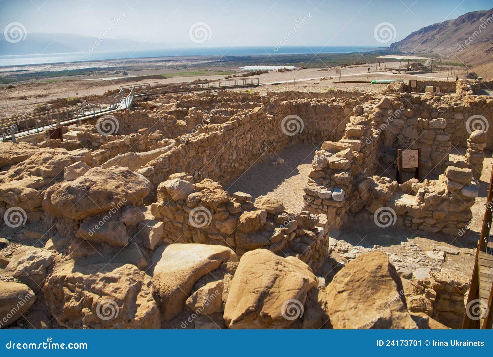 Archeological site, Qumran, Israel.