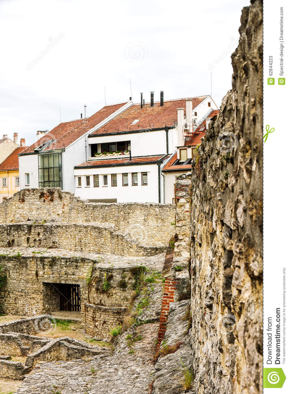 Archeological Site In Sopron Stock Photo Image 62844223