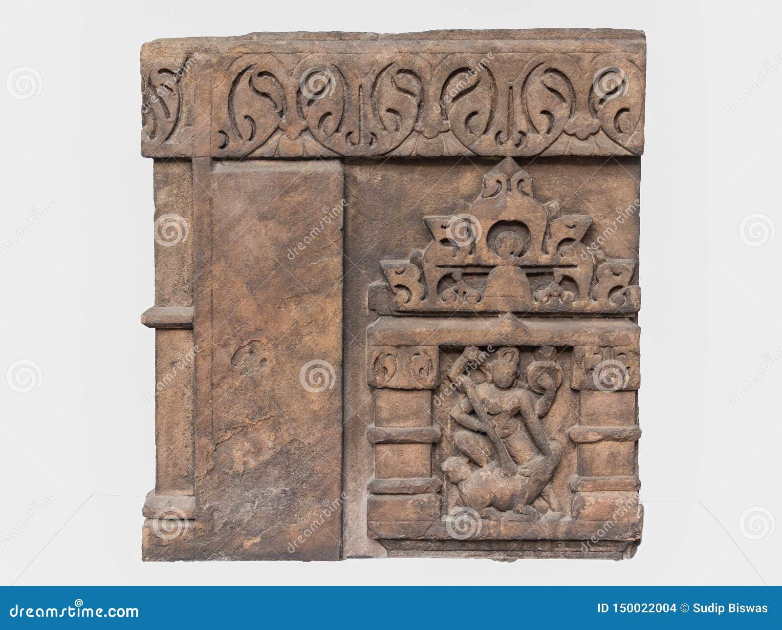 Archeologiczna rzeźba Mahisasuramardini od Indiańskiej mitologii