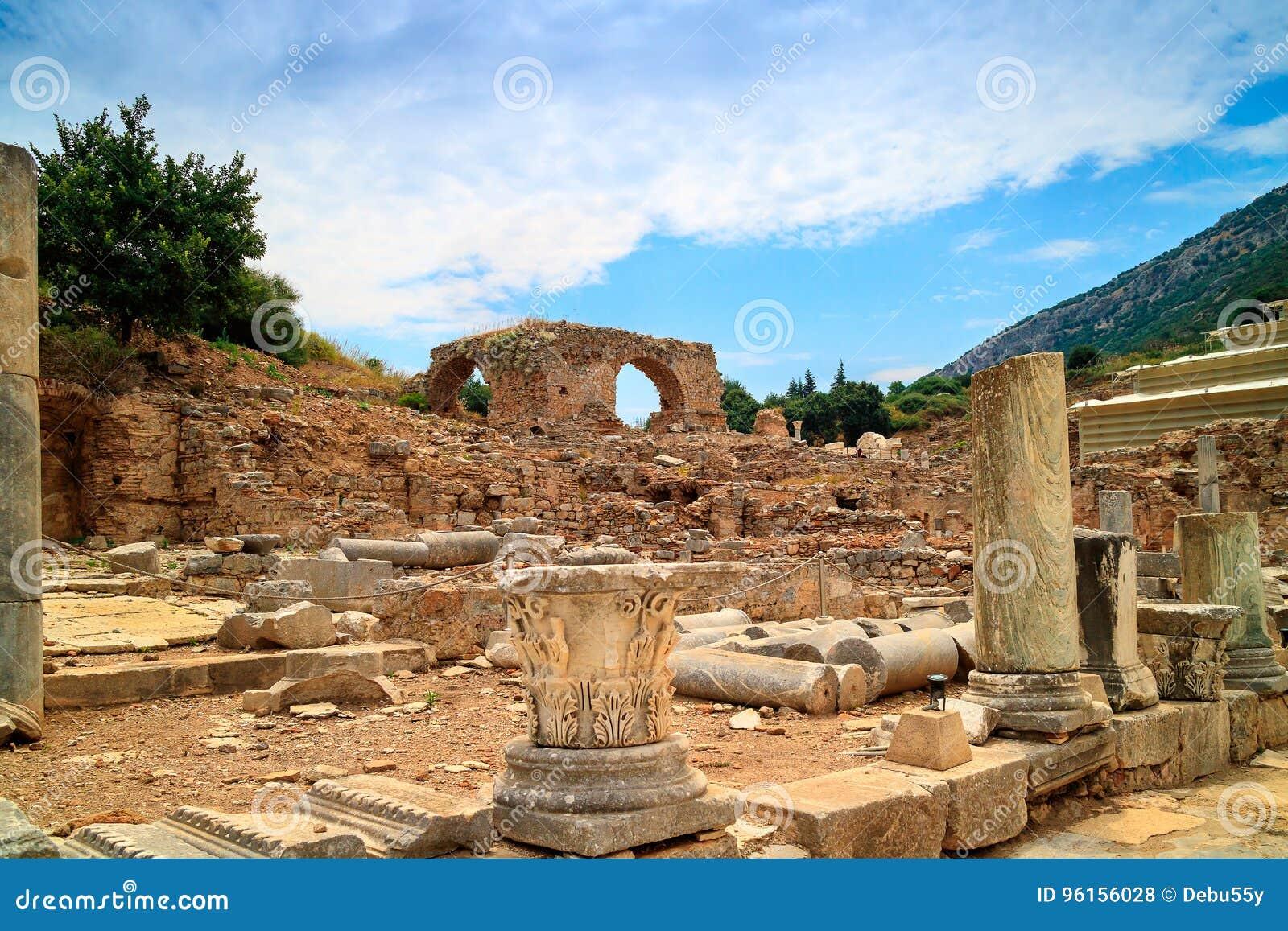 Archeologiczny miejsce Ephesus w Turcja