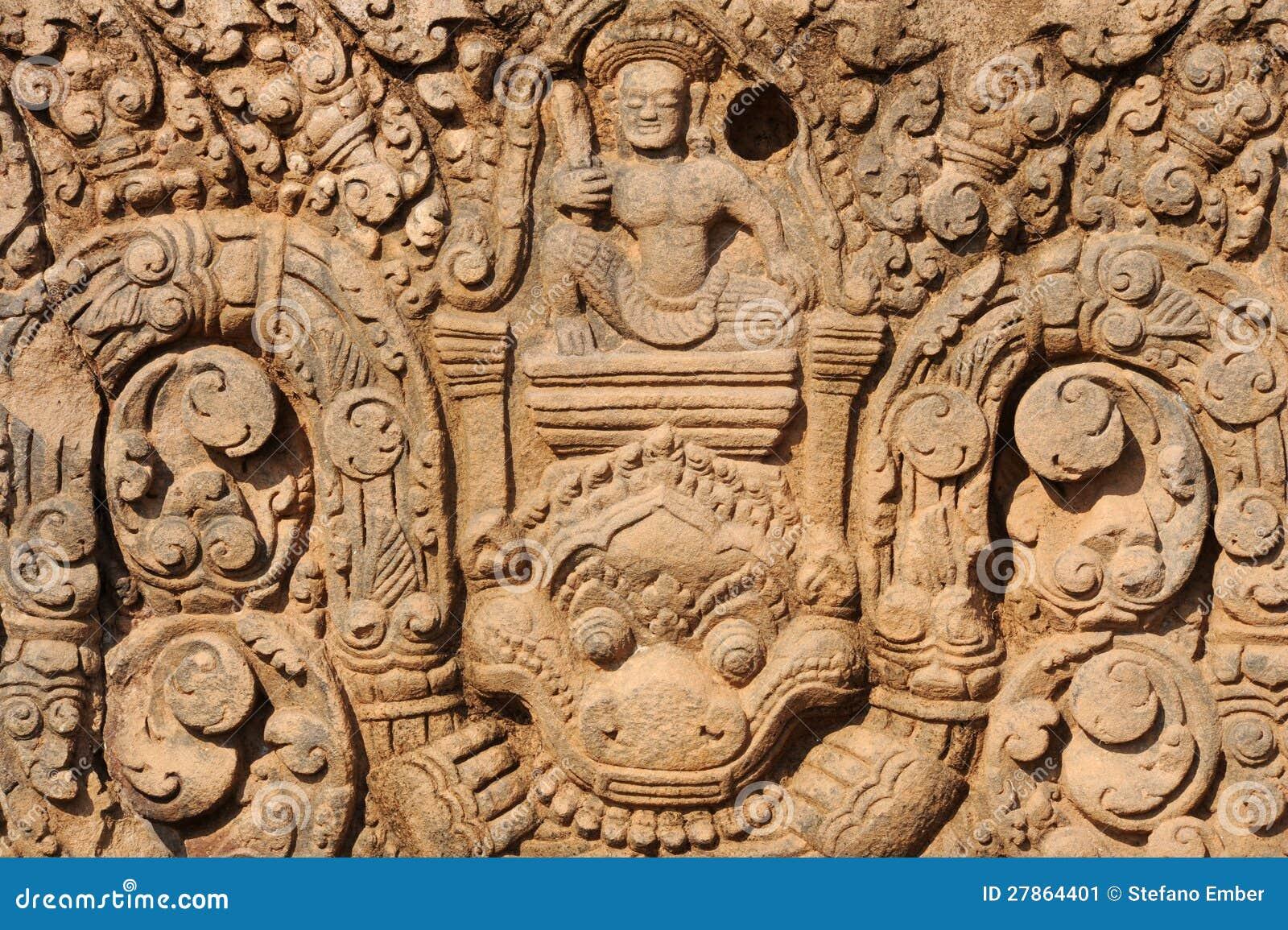 Archeologiczny miejsce Wat Phu blisko Champasak