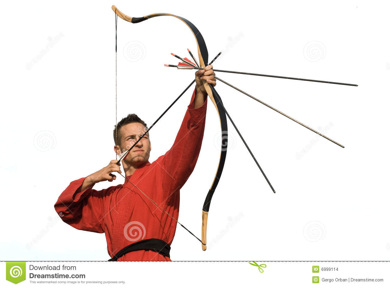 Archer aiming