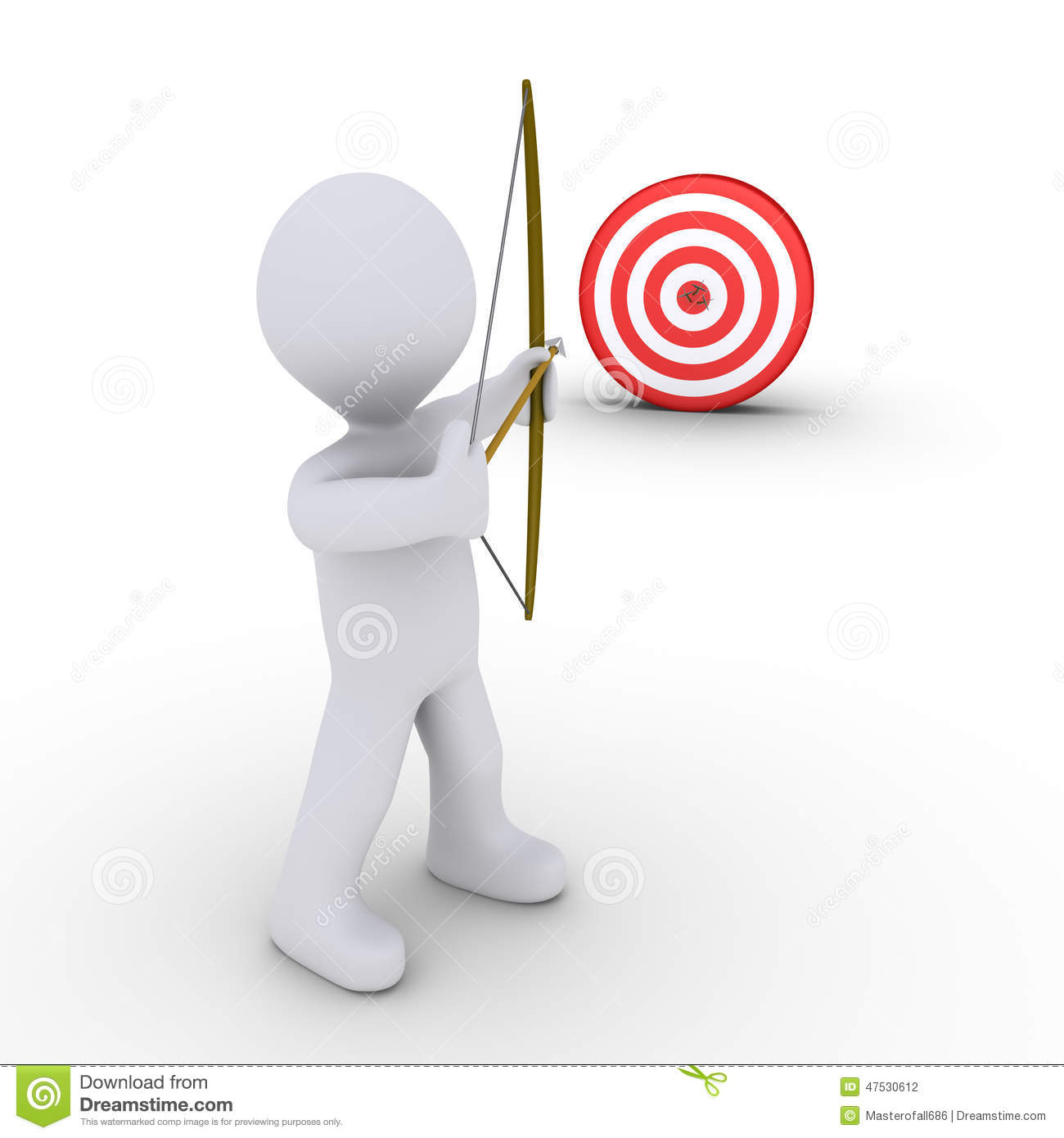 archer aiming at a target stock illustration illustration bow and arrow target clipart clipart images of bow and arrow