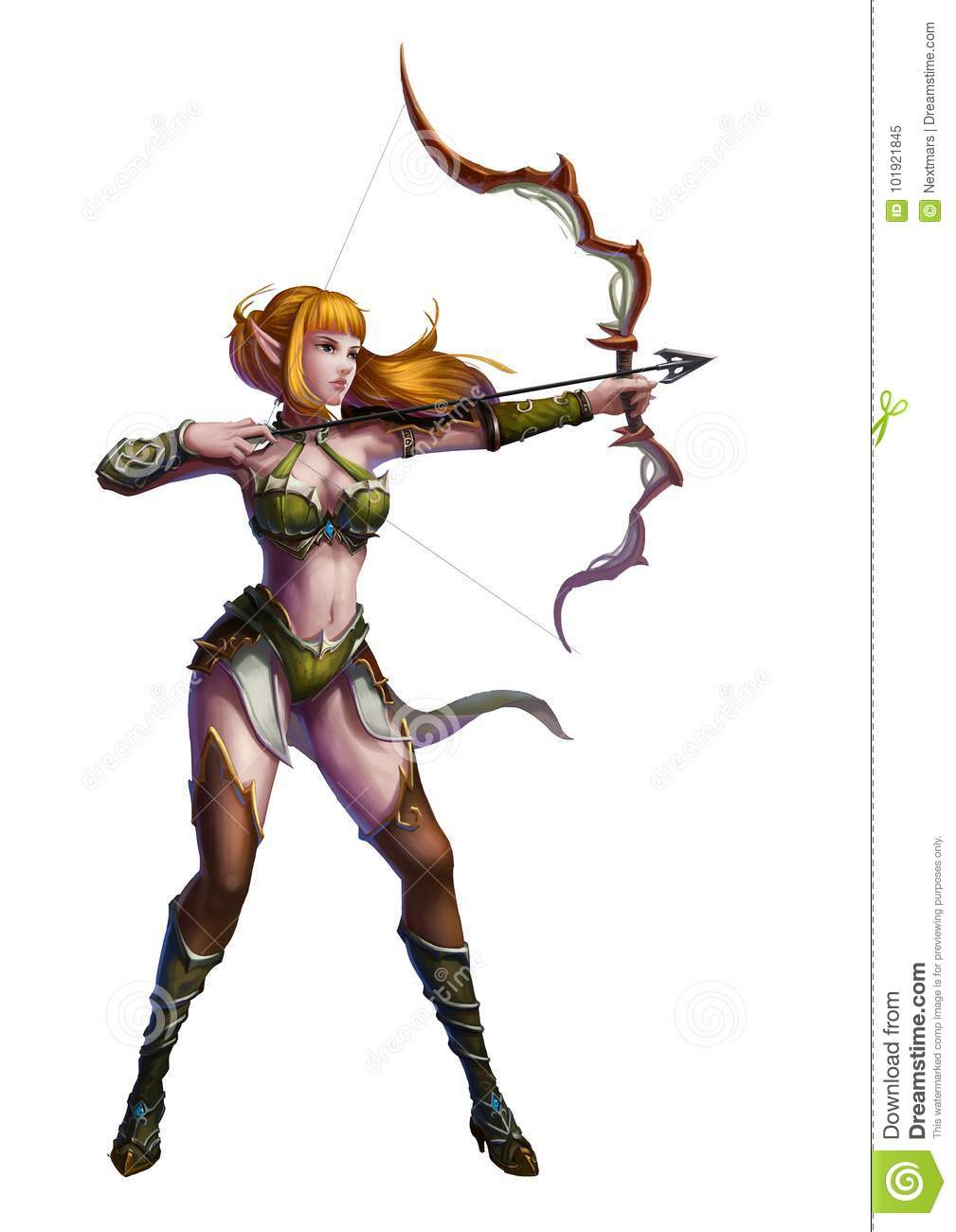 Fantasy Art Female Sharpshooter