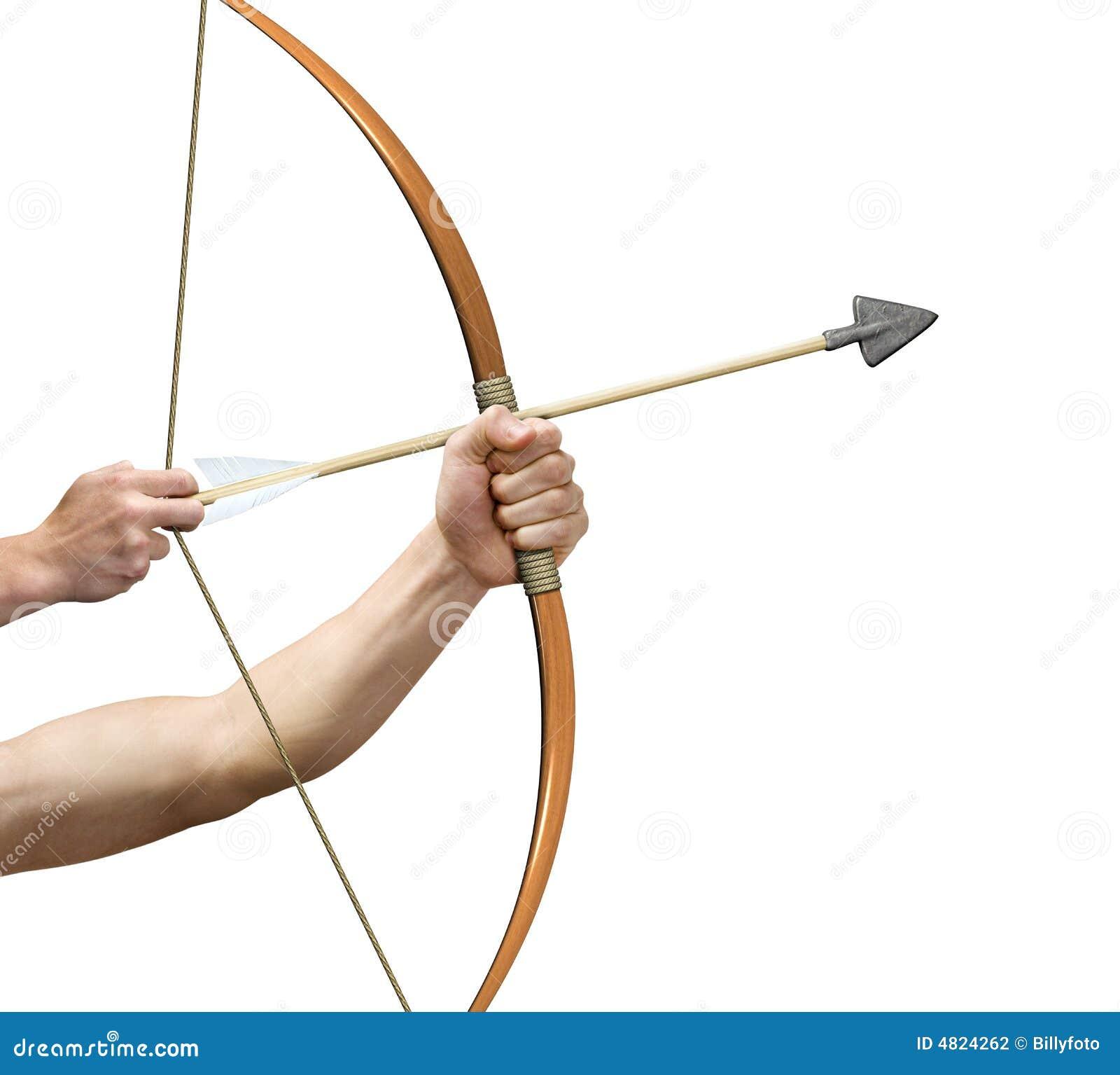 Archer que se prepara para release/versión la flecha