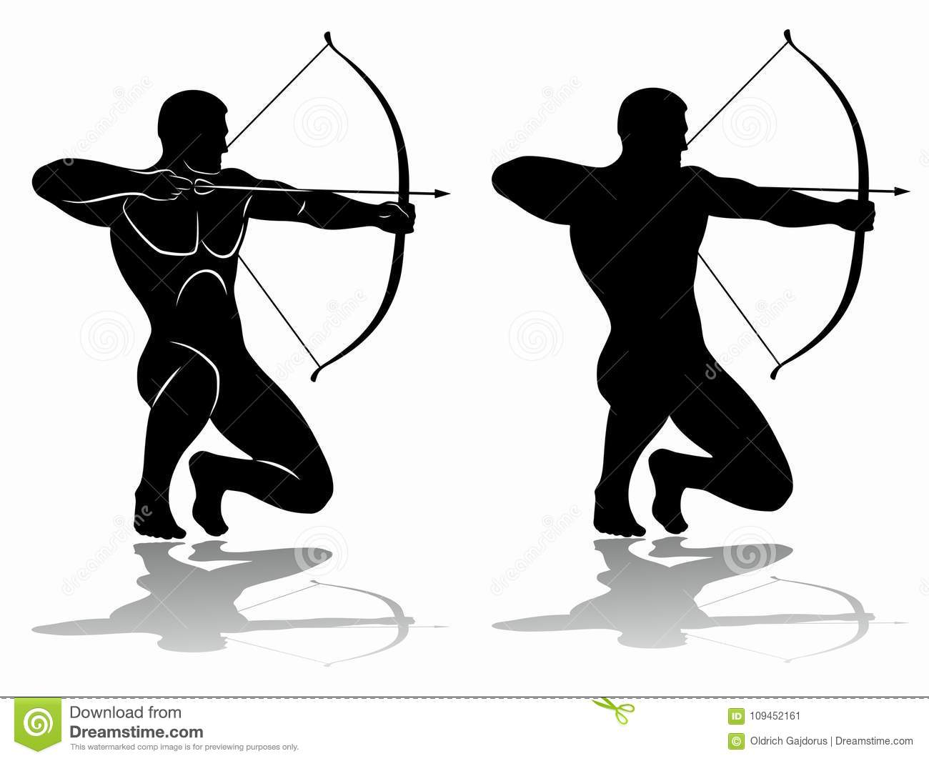 Archer silhouette, vector drawing