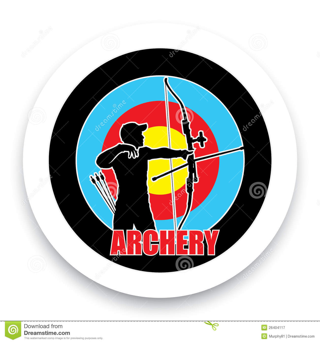 archery badge stock vector  image of sign  accuracy