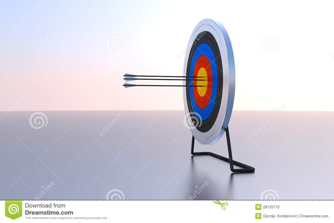 Archery Target Computer Generated Image