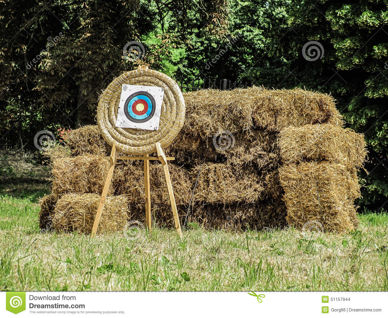 archery target shield stock photo  image of arrow  wooden