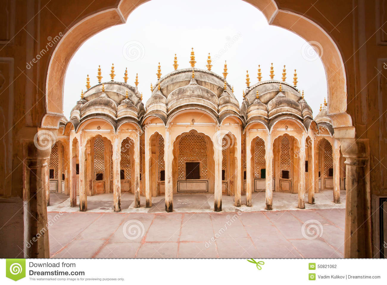 Arches of an ancient building in indian style stock photo for Decor india jaipur