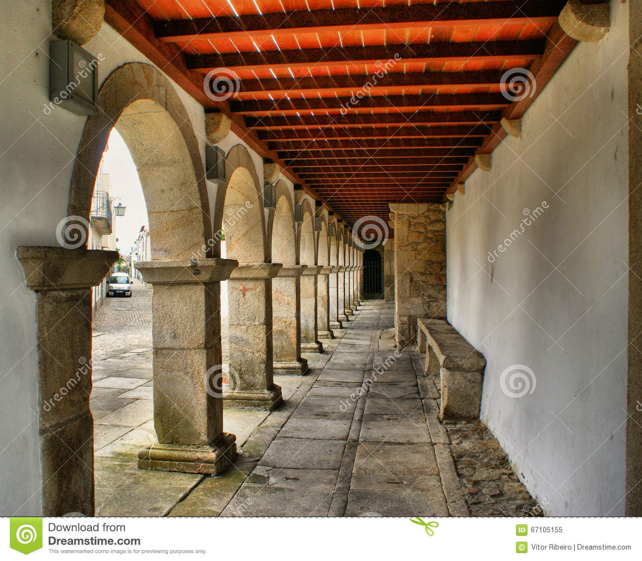 Arches and ceiling in Caminha