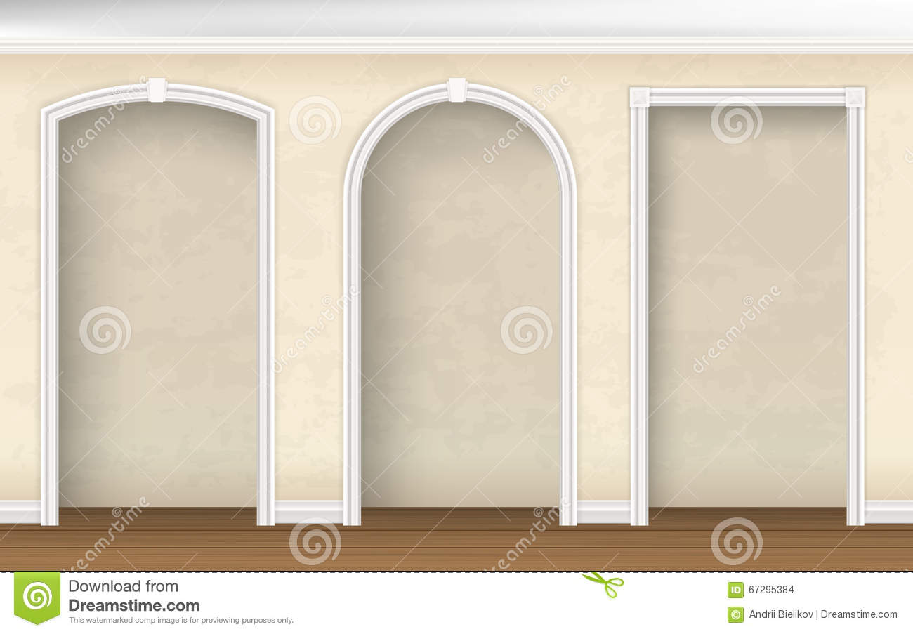 Wall Arch Design Images : Arches of different shapes in the wall stock vector