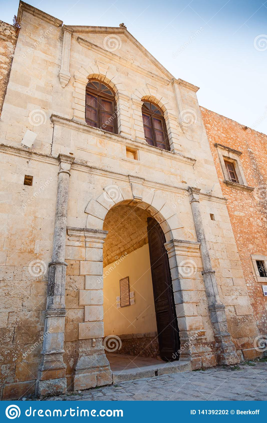 Arches of old monastery