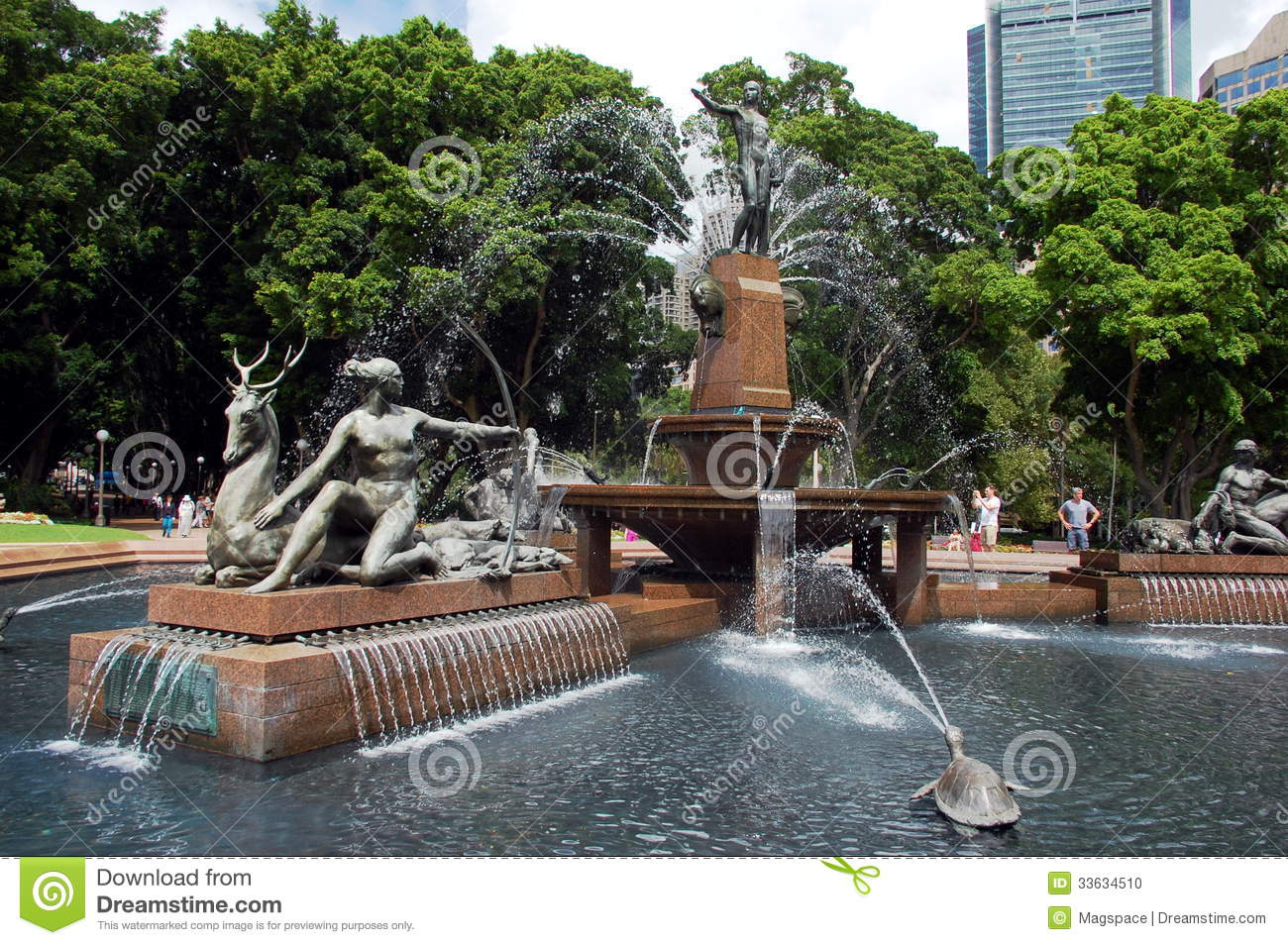 Water fountains hyde park - The Archibald Fountain In Hyde Park New South Wales Australia Editorial Image