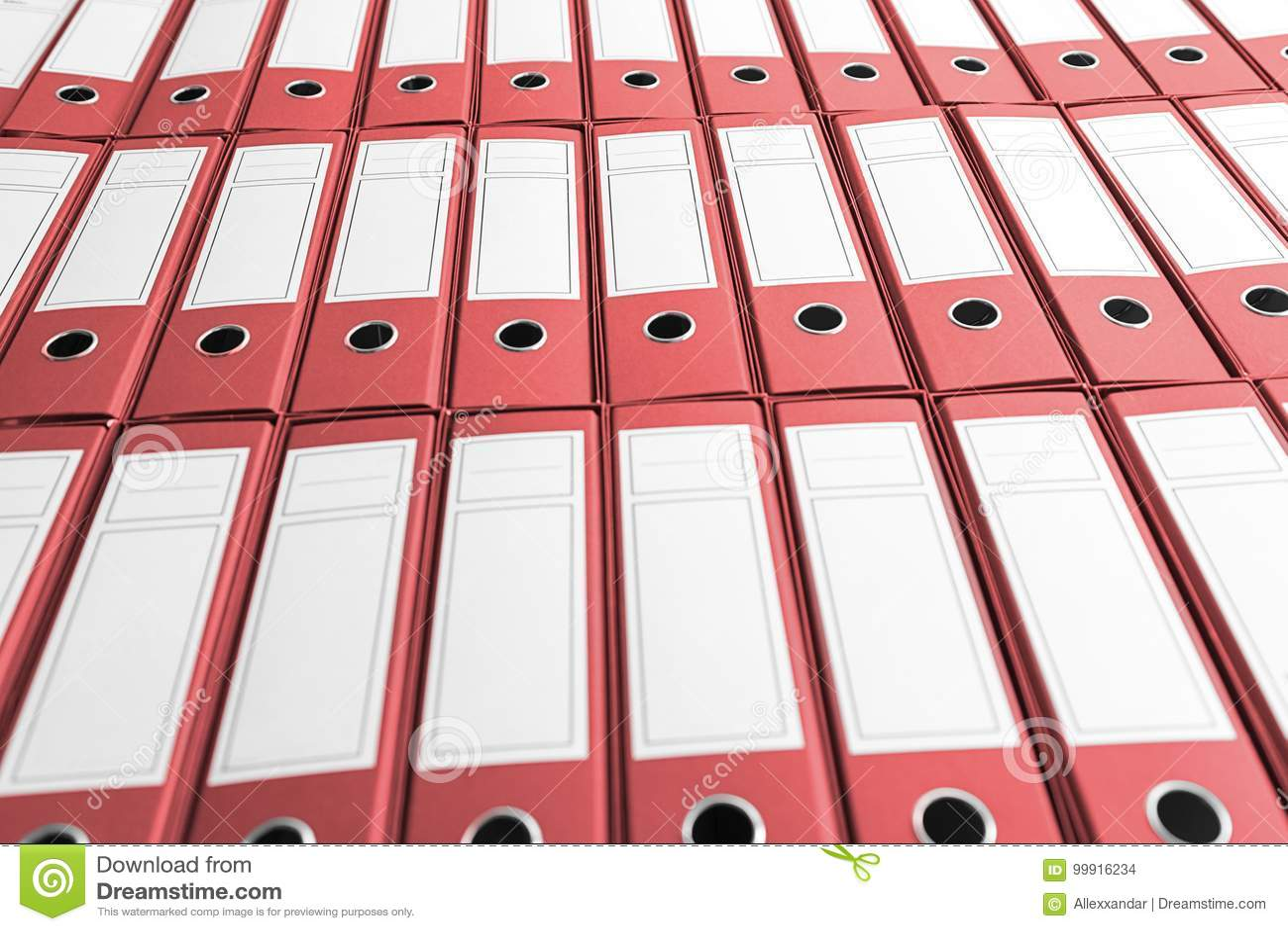 Archief met vele bindmiddelen op plank