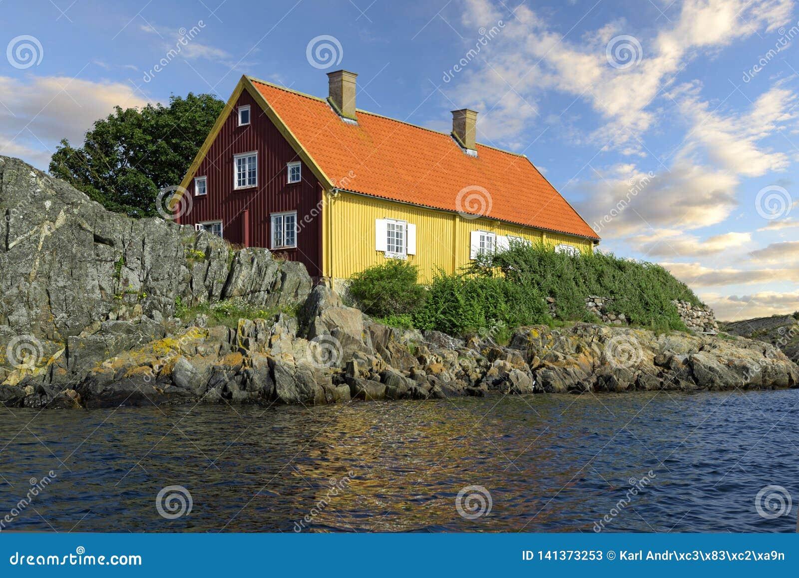 Archipel in Zweden Härön Kyrkesund Bohuslän Zweden