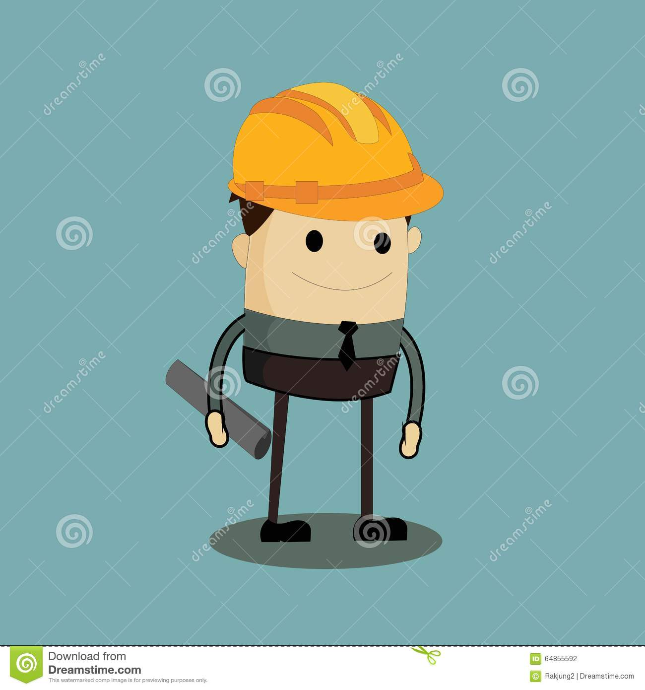 architect cartoon illustration background preview