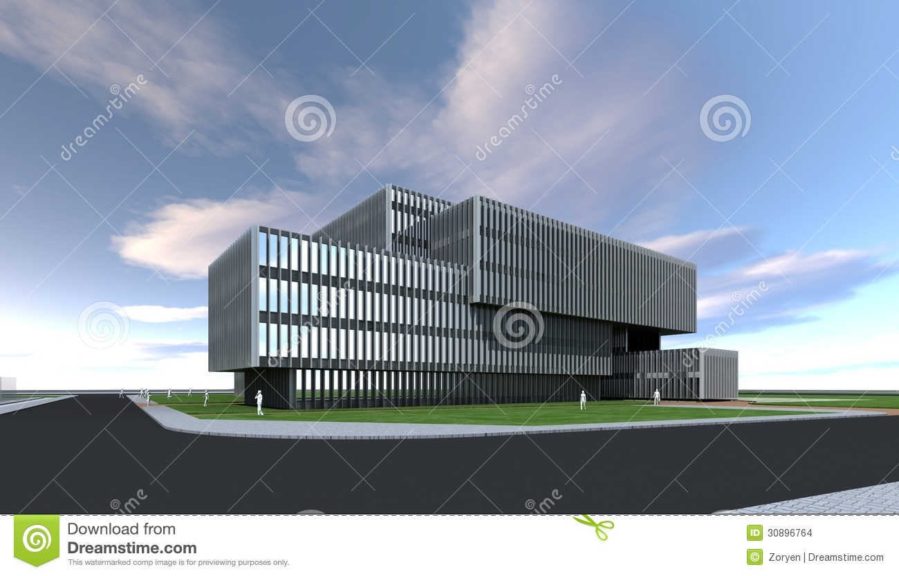 Architect concept modern building stock photo image of for Contemporary architecture design concept