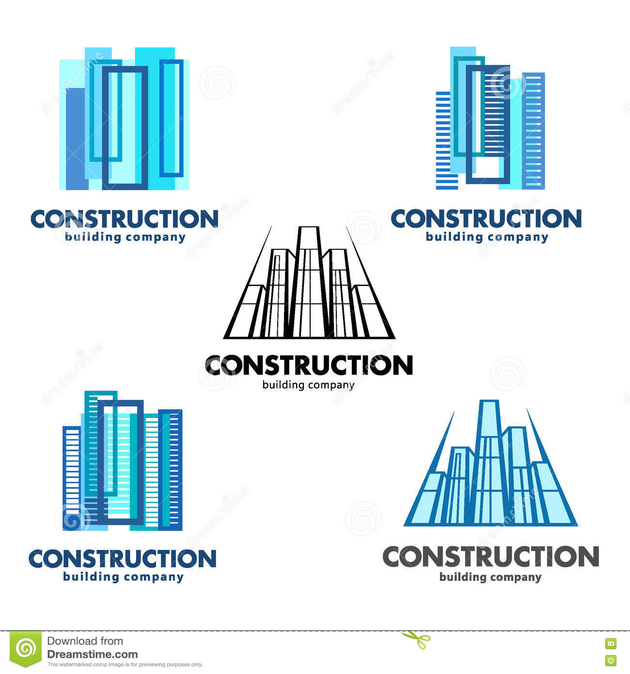 Architect Construction Concept Vector Logos For