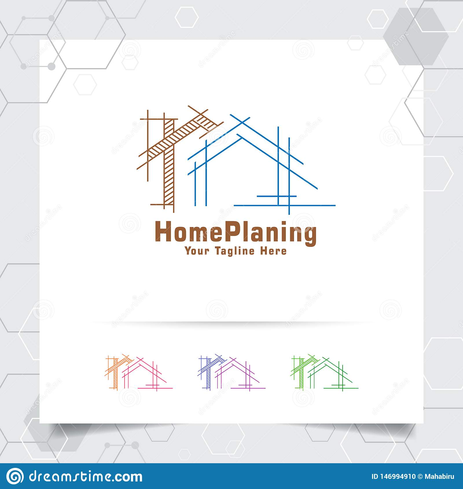 Architect Construction Logo Design Concept Of Architectural