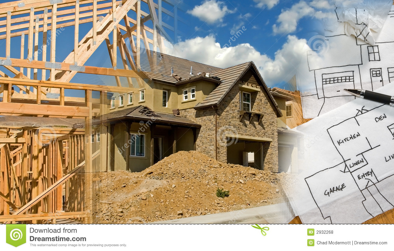 Architect construction montage royalty free stock photos for Construction architect