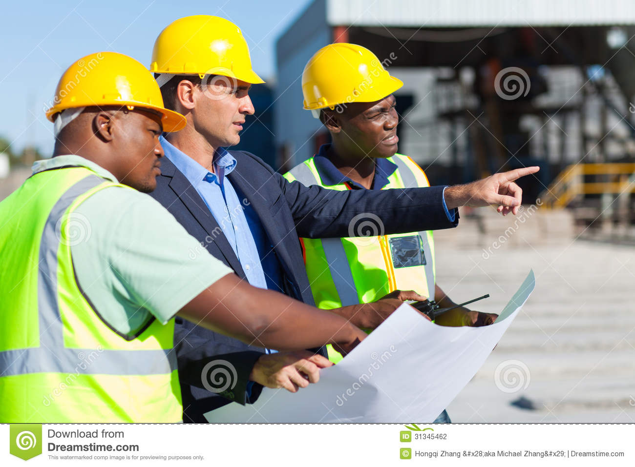 Architect construction workers stock photography image for Construction architect