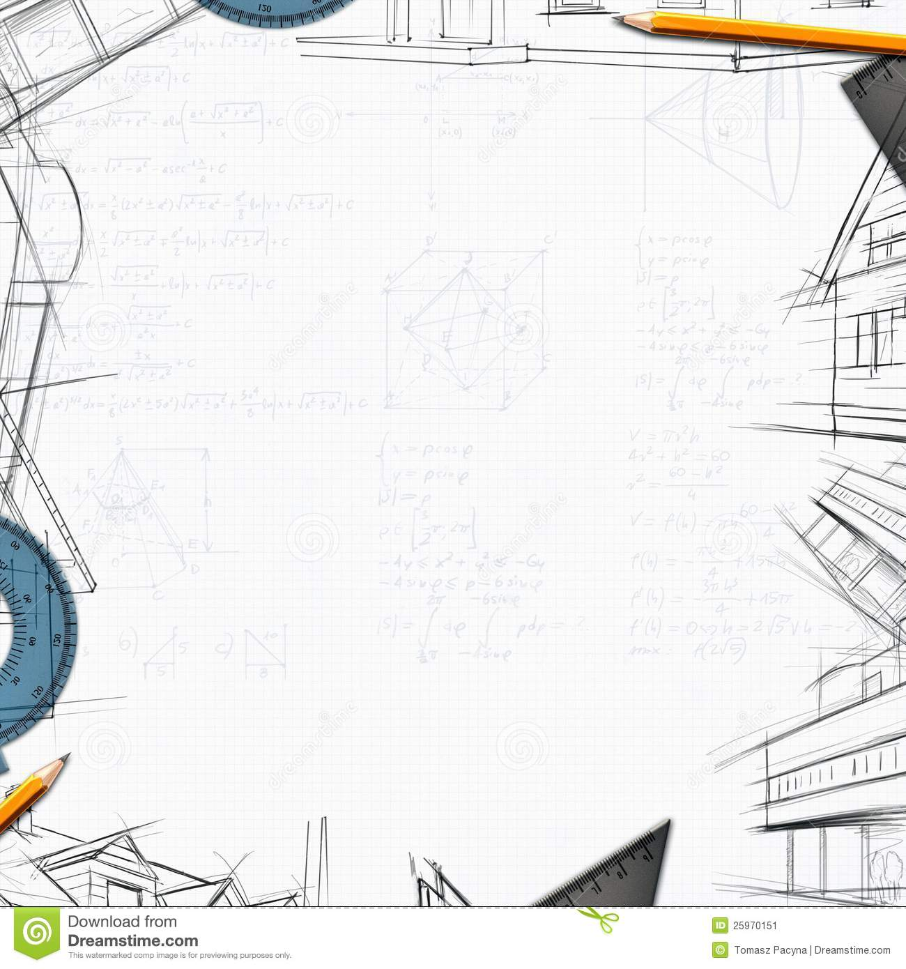 Design House Construction Free Architect Constructor Designer Background Stock