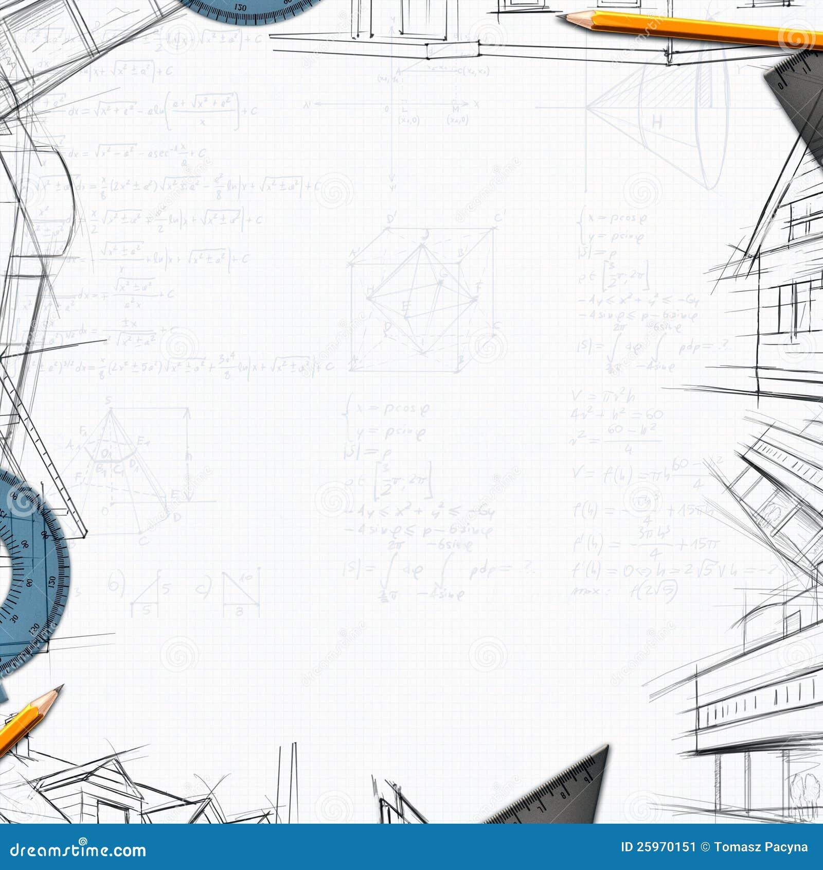 Architect constructor designer background stock image for Designer or architect