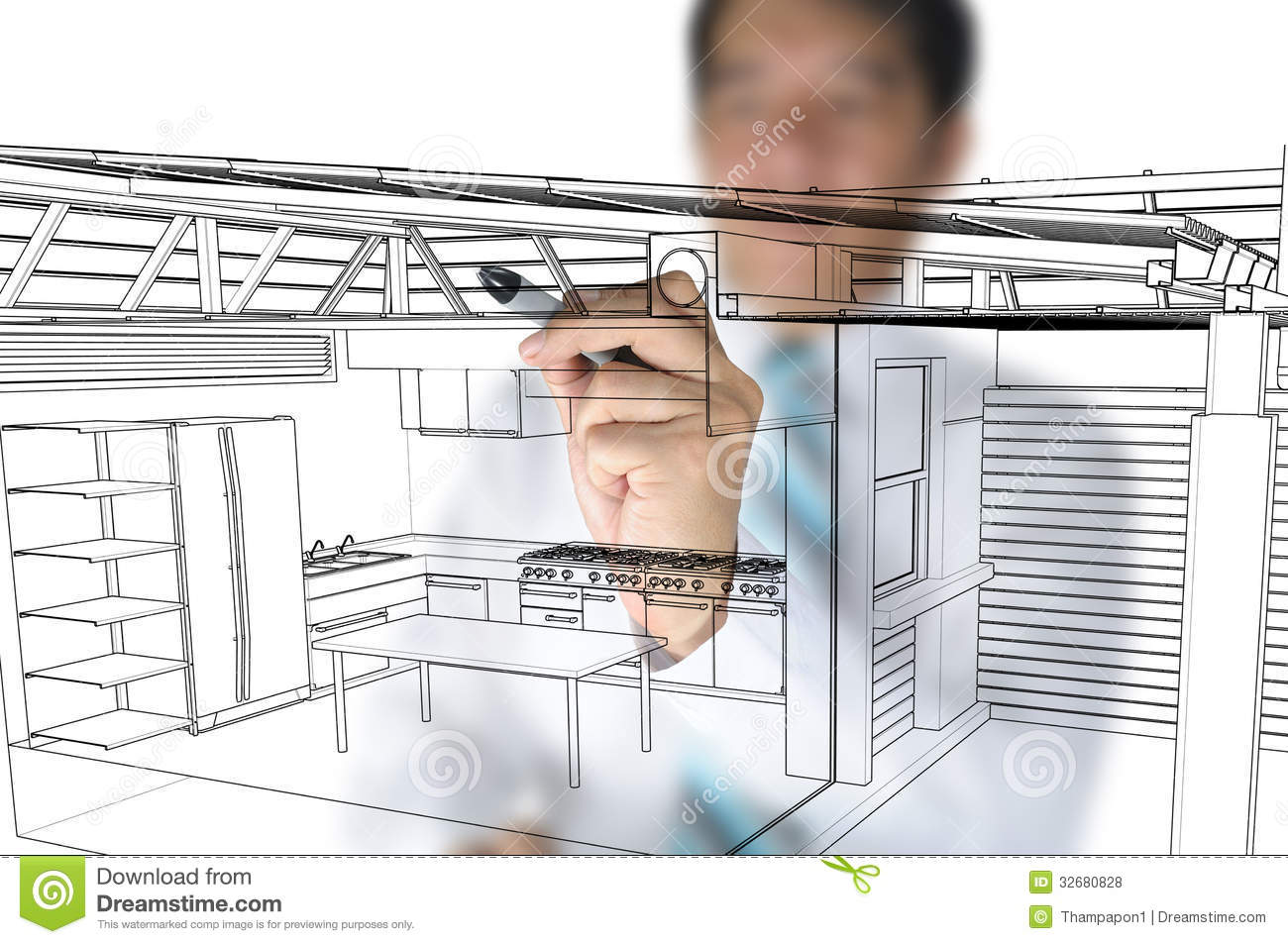 Kitchen Design Architect : Architect Design Home Kitchen Royalty Free Stock Photos - Image ...
