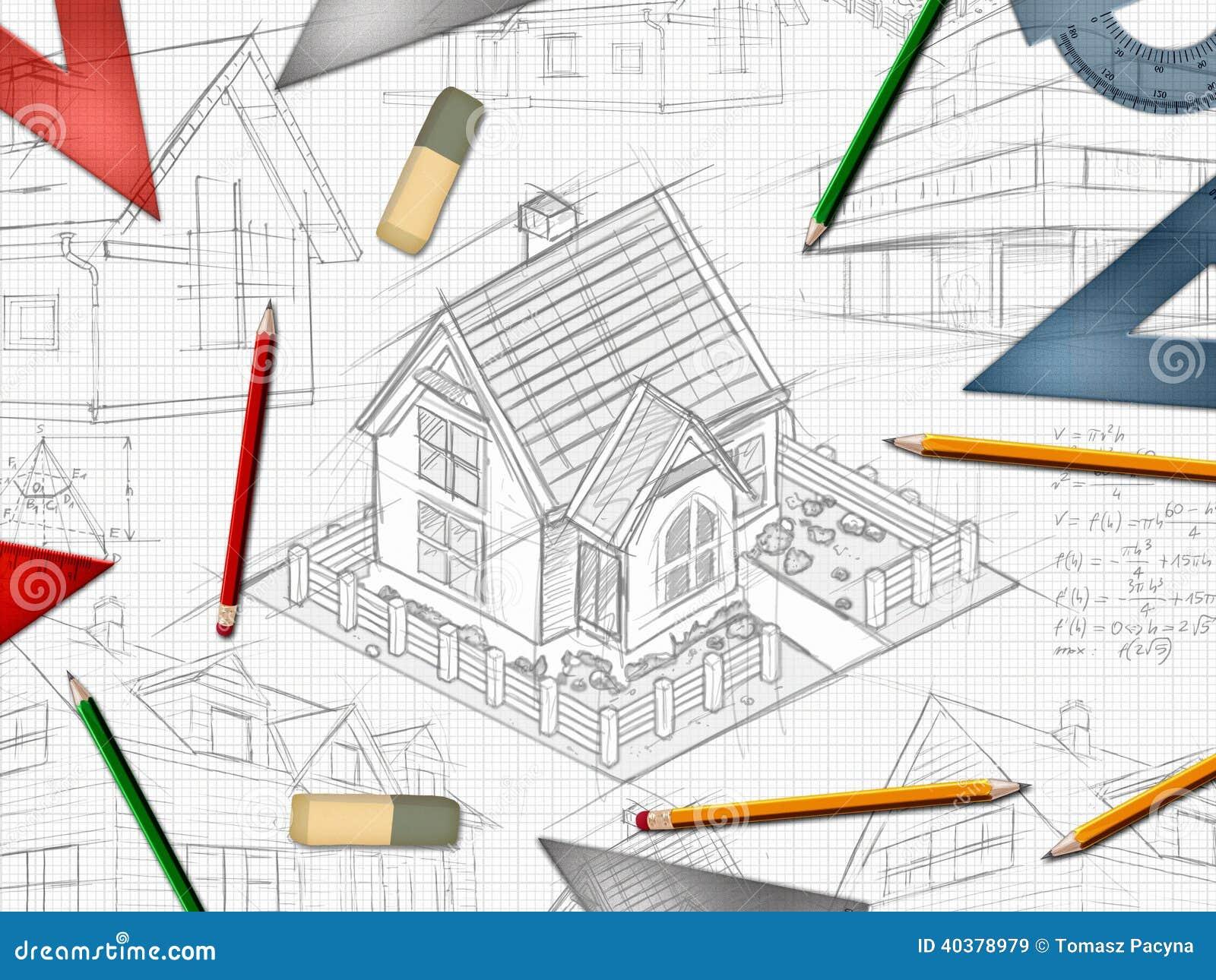 Architecture Design Background architect designer desktop background stock illustration - image