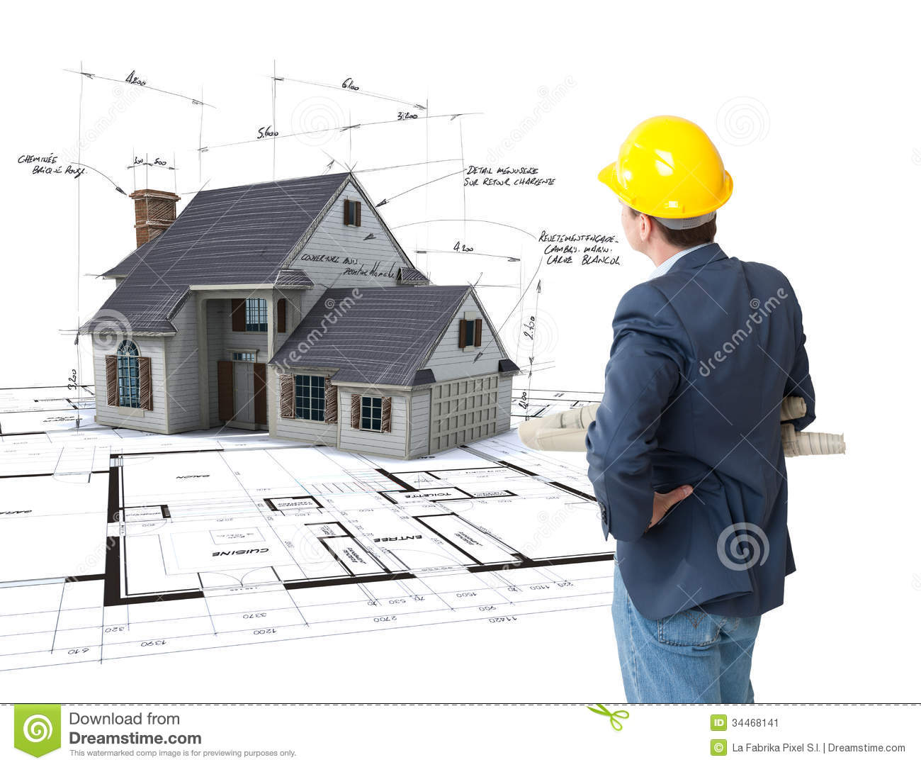 Architect Envisioning His Project Stock Image Image Of Project