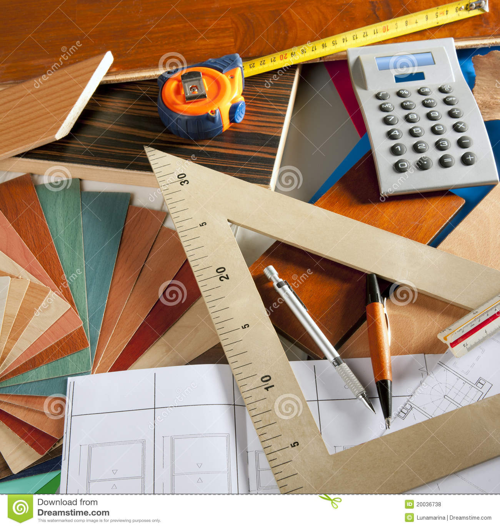 Architect interior designer carpenter royalty free stock for Interior design tools online