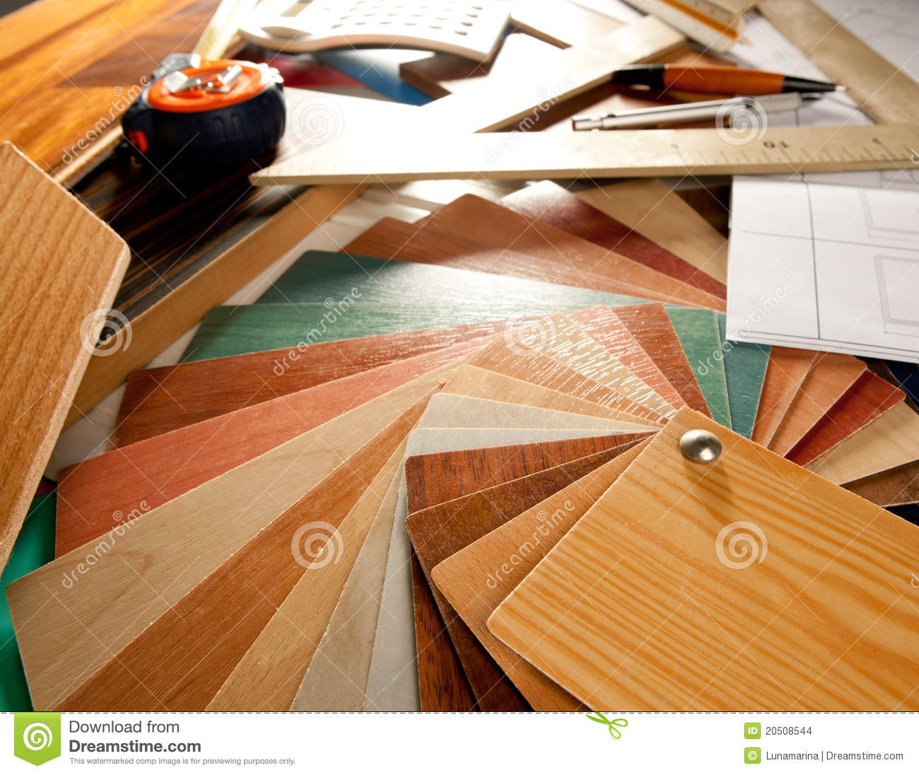 Architect interior designer workplace stock images image for Interior design tools