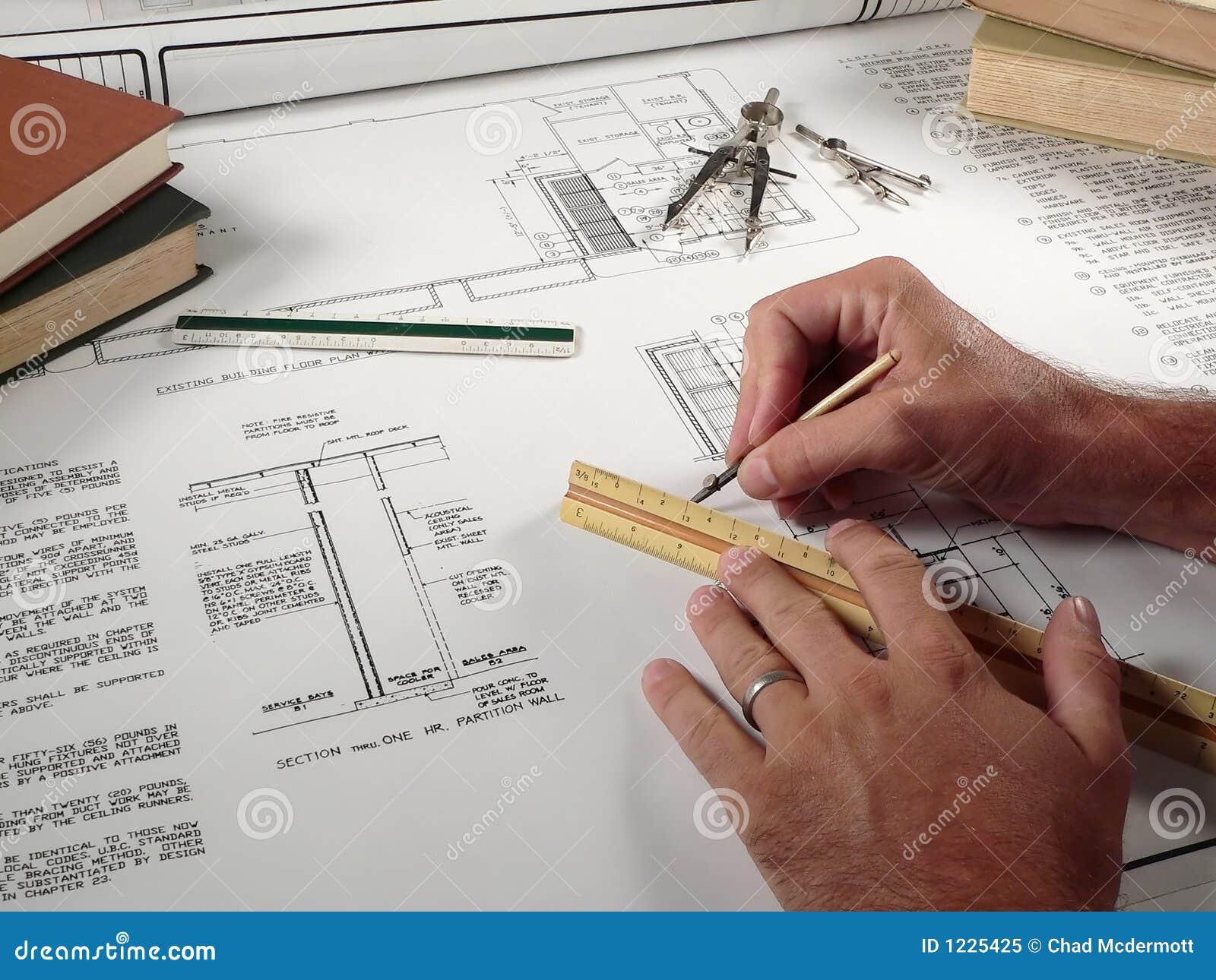 Architect op het werk royalty vrije stock foto beeld 1225425 - Decoreer zijn kantoor op het werk ...