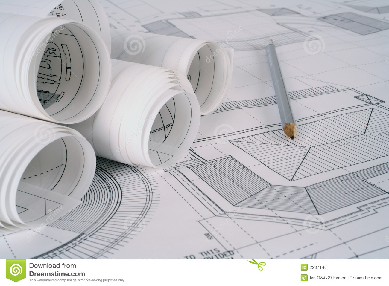 Architect plans royalty free stock image image 2287146 for Architecte 3d key