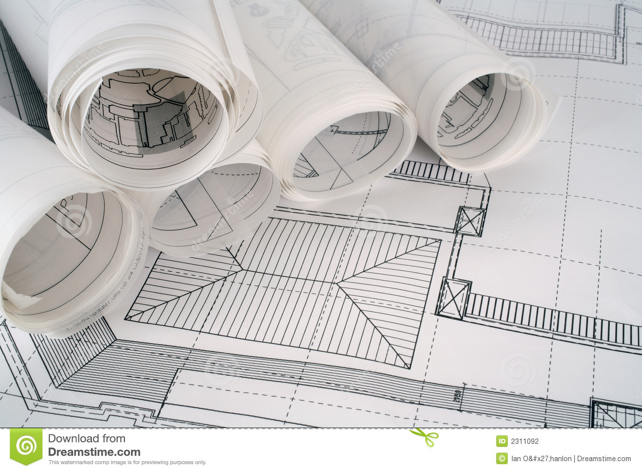 Architect plans series stock photo image of workspace for Plan architect