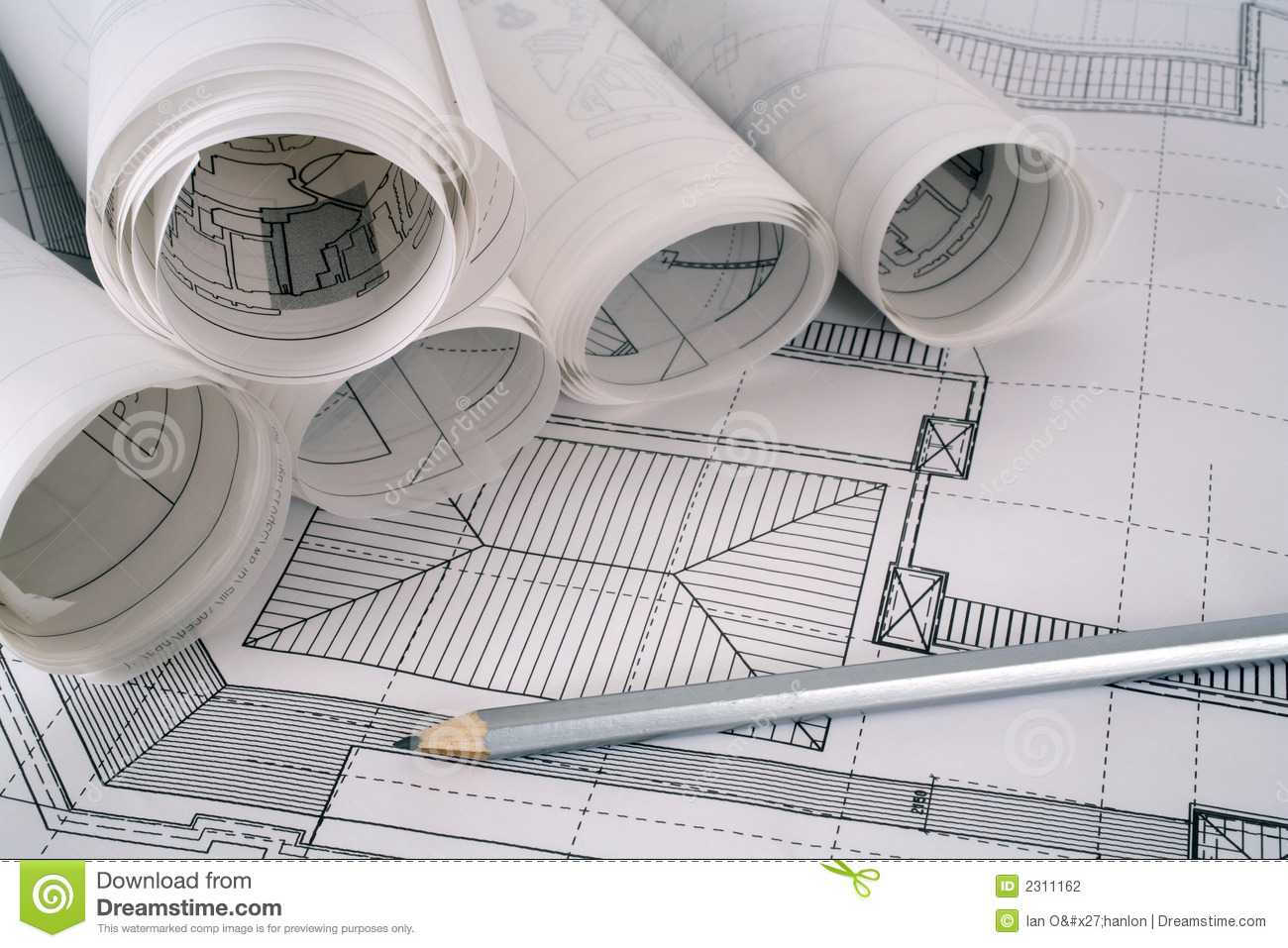 Architect plans series stock photo image of architect for Architectural plans