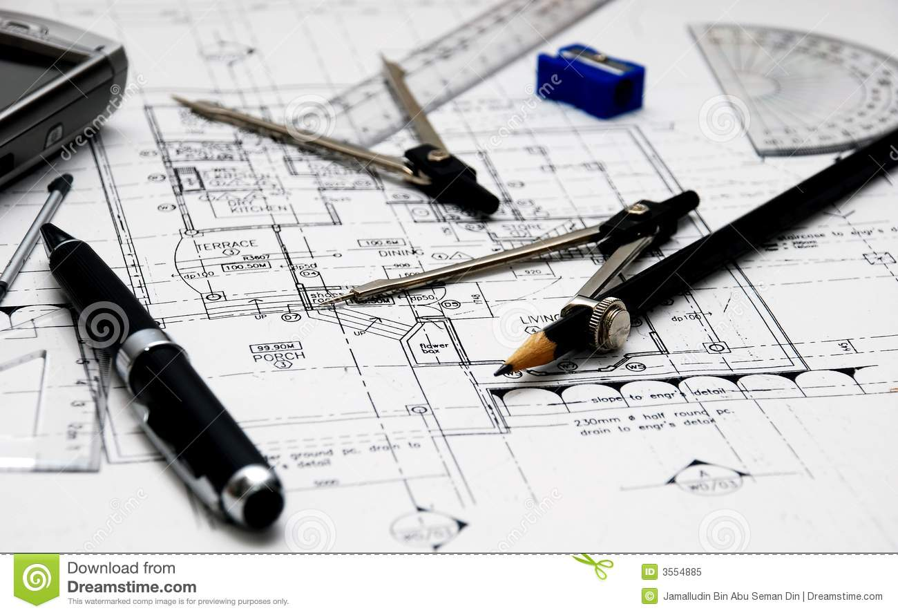 Architect 39 S Tools Royalty Free Stock Photo Image 3554885