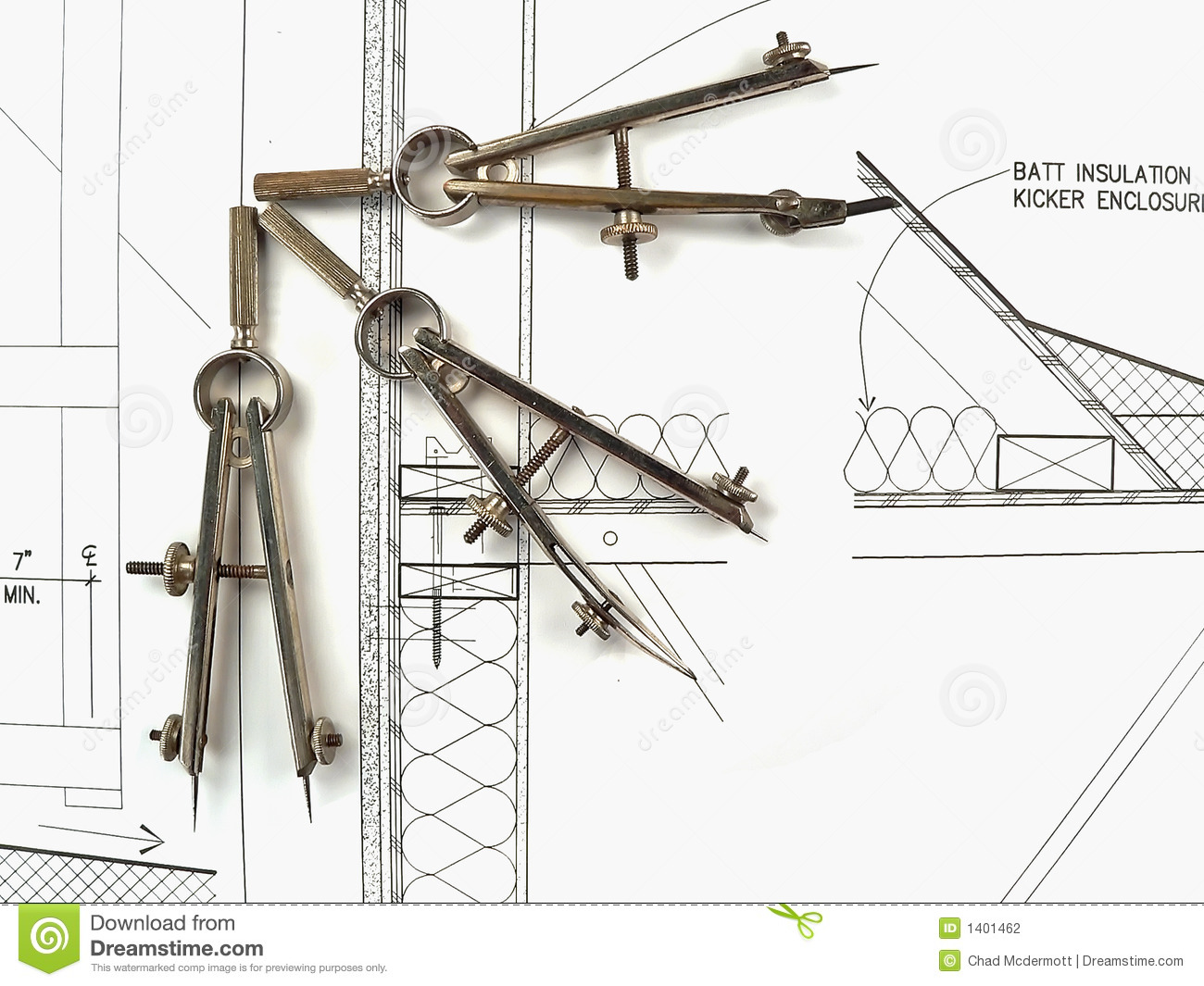 Architect 39 s tools and plans stock photography image 1401462 for Architecture drawing tools