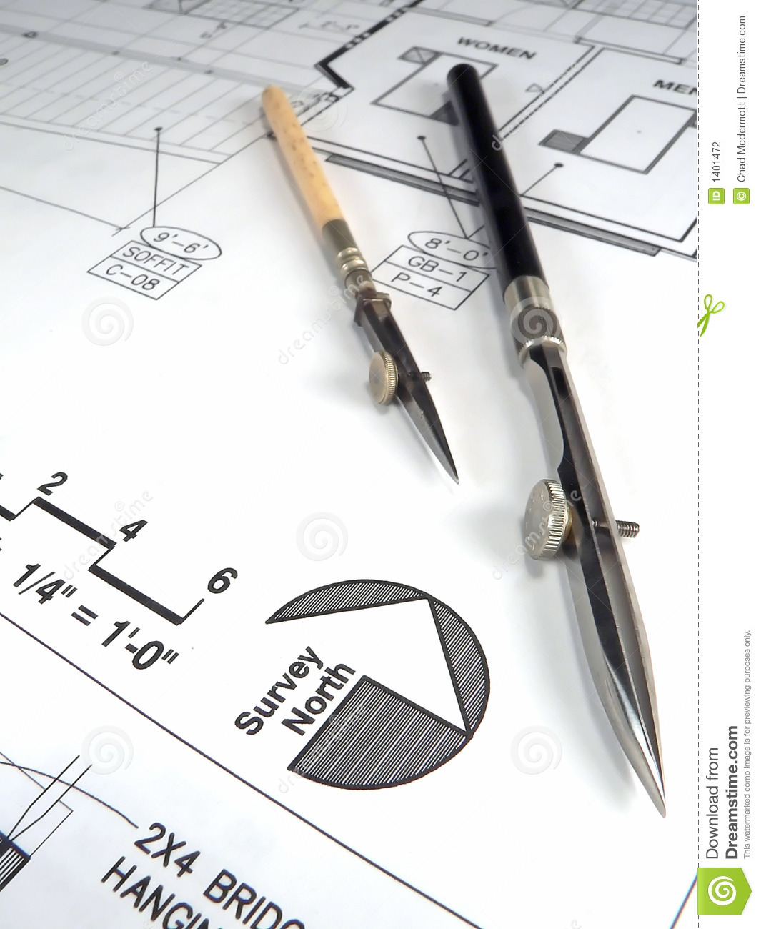 Architect 39 S Tools And Plans Stock Photography Image 1401472