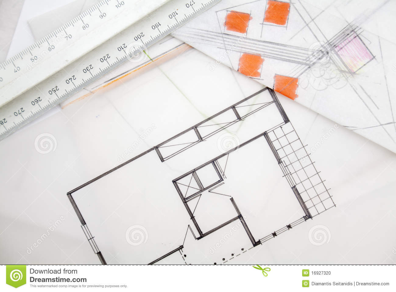 Architect Sketch. Stock Photo - Image: 16927320