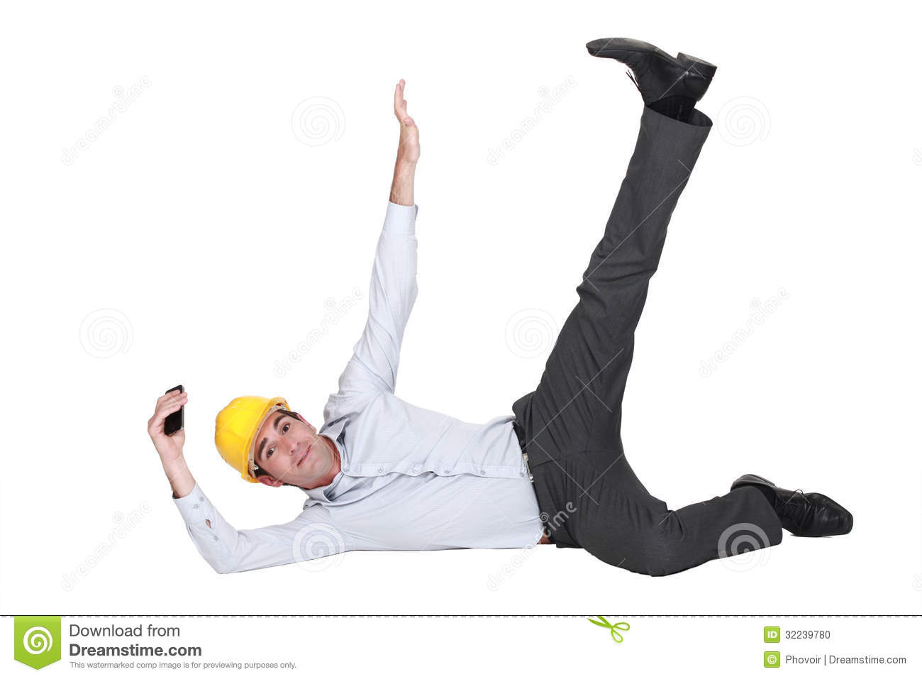 An Architect In A Weird Pose. Stock Photo - Image: 32239780