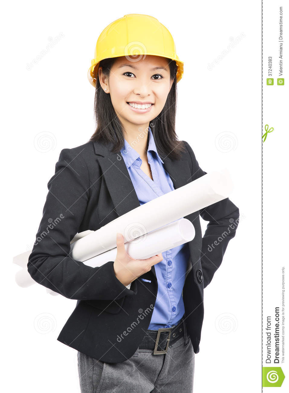 Architect woman stock image. Image of looking, company ...