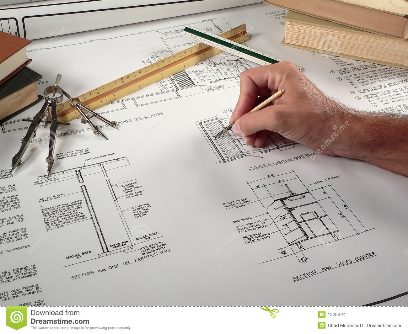 Architect At Work Stock Images - Image: 1225424