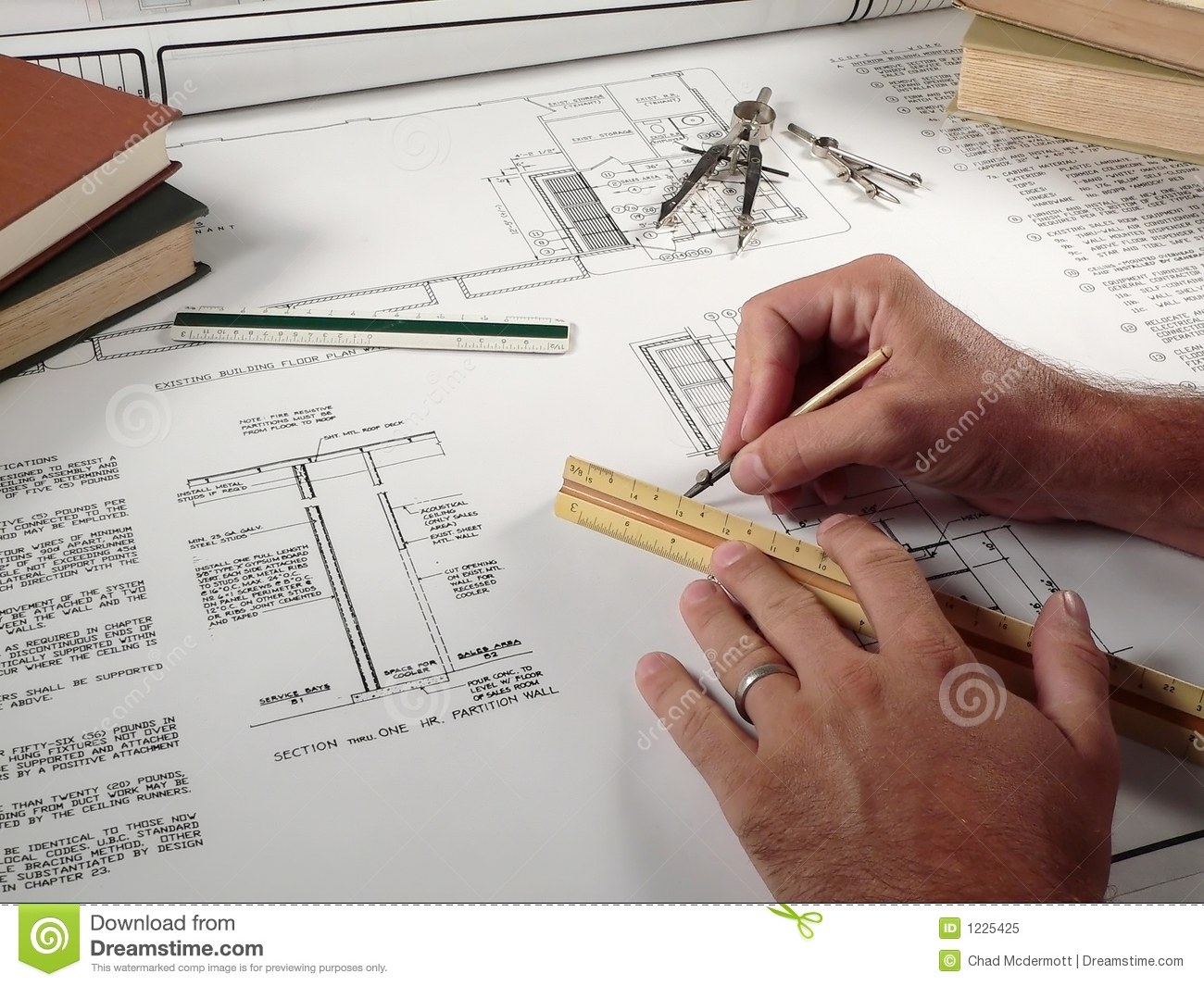 Architect at work royalty free stock photo image 1225425 for Architect at work