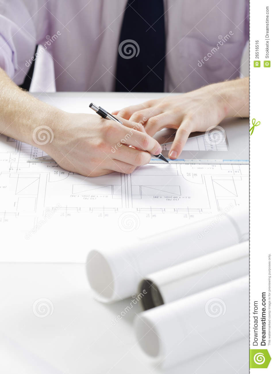Architect at work royalty free stock image image 26516516 for Architect at work