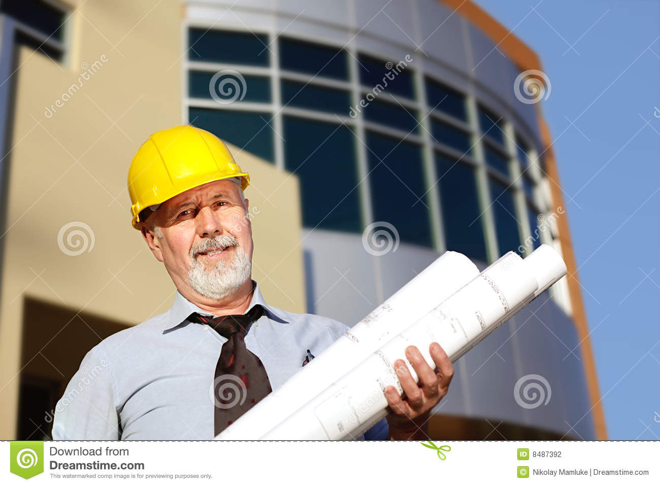 Architect at work stock photography image 8487392 for Architect at work