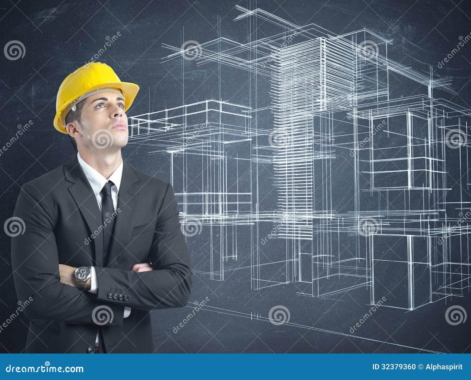 Architecte et projet des bâtiments modernes